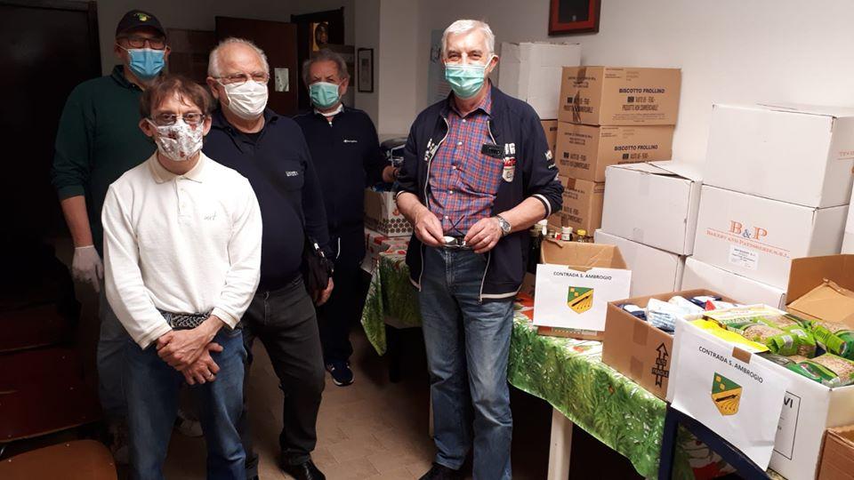 La Contrada Sant'Ambrogio ha raggiunto la quinta settimana con la Spesa Solidale