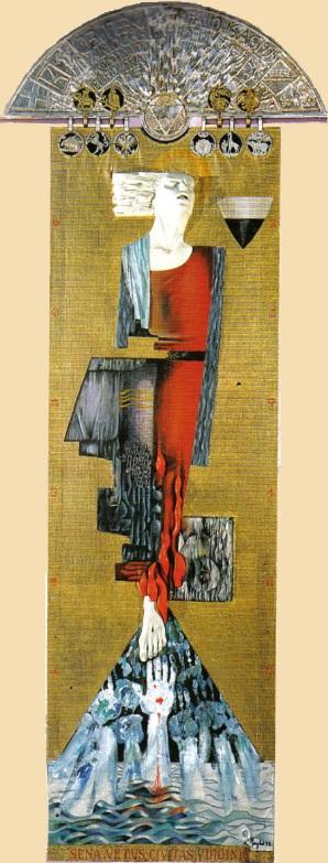 L'Arte del Palio: il Drappellone del 16 agosto 1995