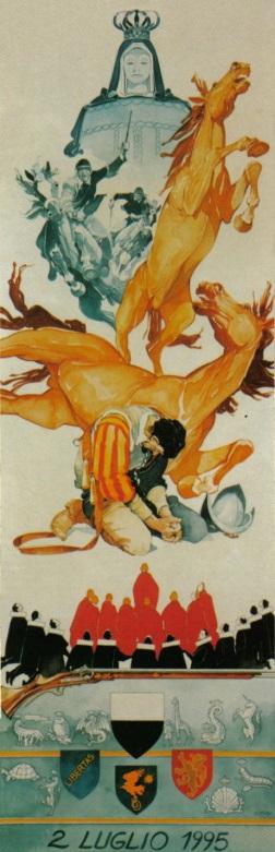 L'Arte del Palio: Il Drappellone del 2 luglio 1995