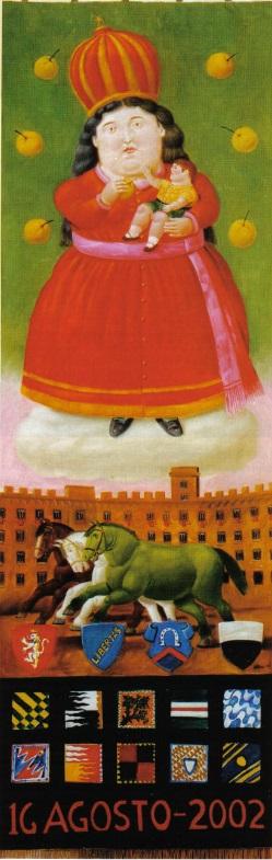 L'Arte del Palio: il Drappellone del 16 agosto 2002