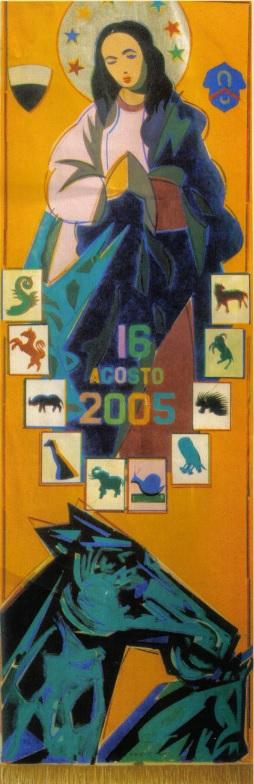 L'Arte del Palio: il Drappellone del 16 agosto 2005
