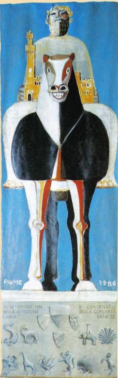 L'Arte del Palio: il Drappellone del 13 settembre 1986
