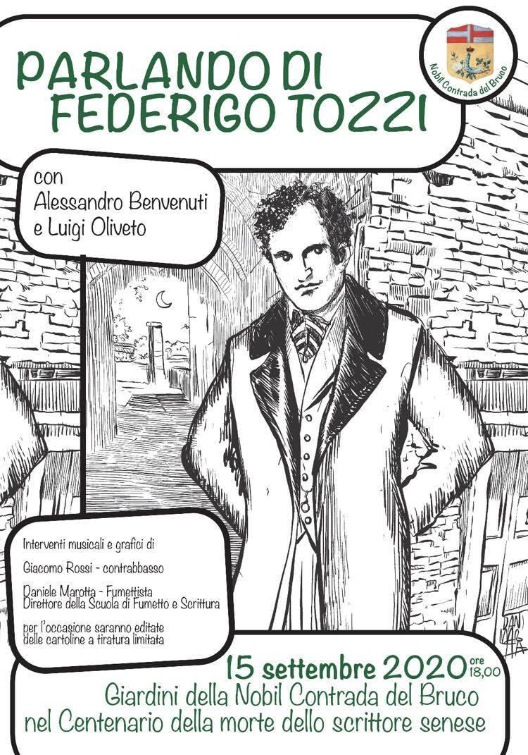 Bruco: il 15 settembre un evento dedicato a Federigo Tozzi