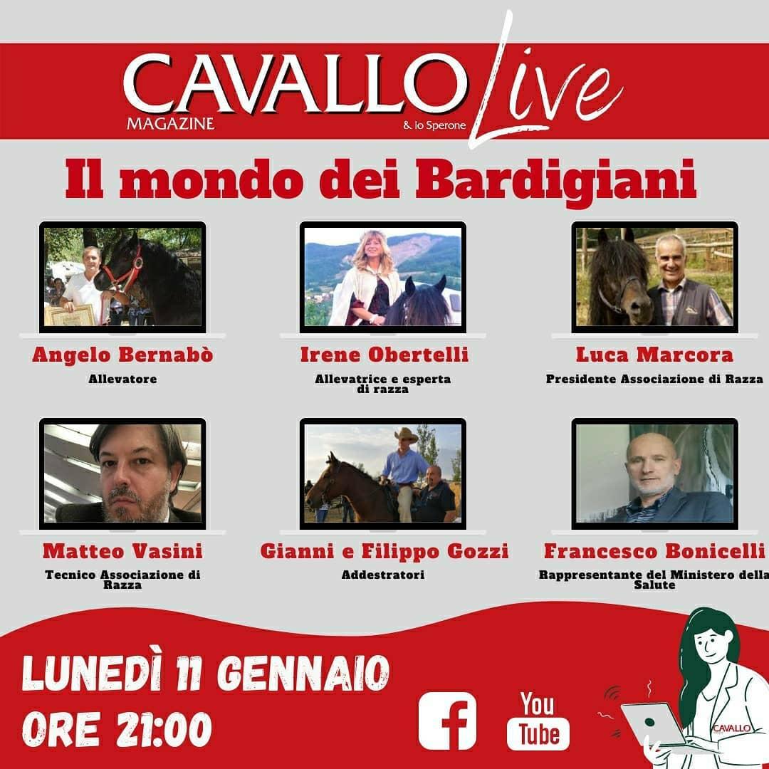 Cavallo Magazine: questa sera una diretta Facebook sul cavallo bardigiano