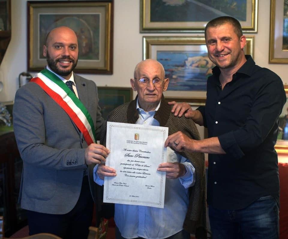 Ieri Tristezza ha ricevuto un Riconoscimento Civico dal Sindaco di Lercara Friddi