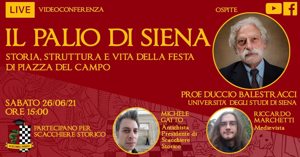 Questo pomeriggio Duccio Balestracci parlerà della Storia del Palio