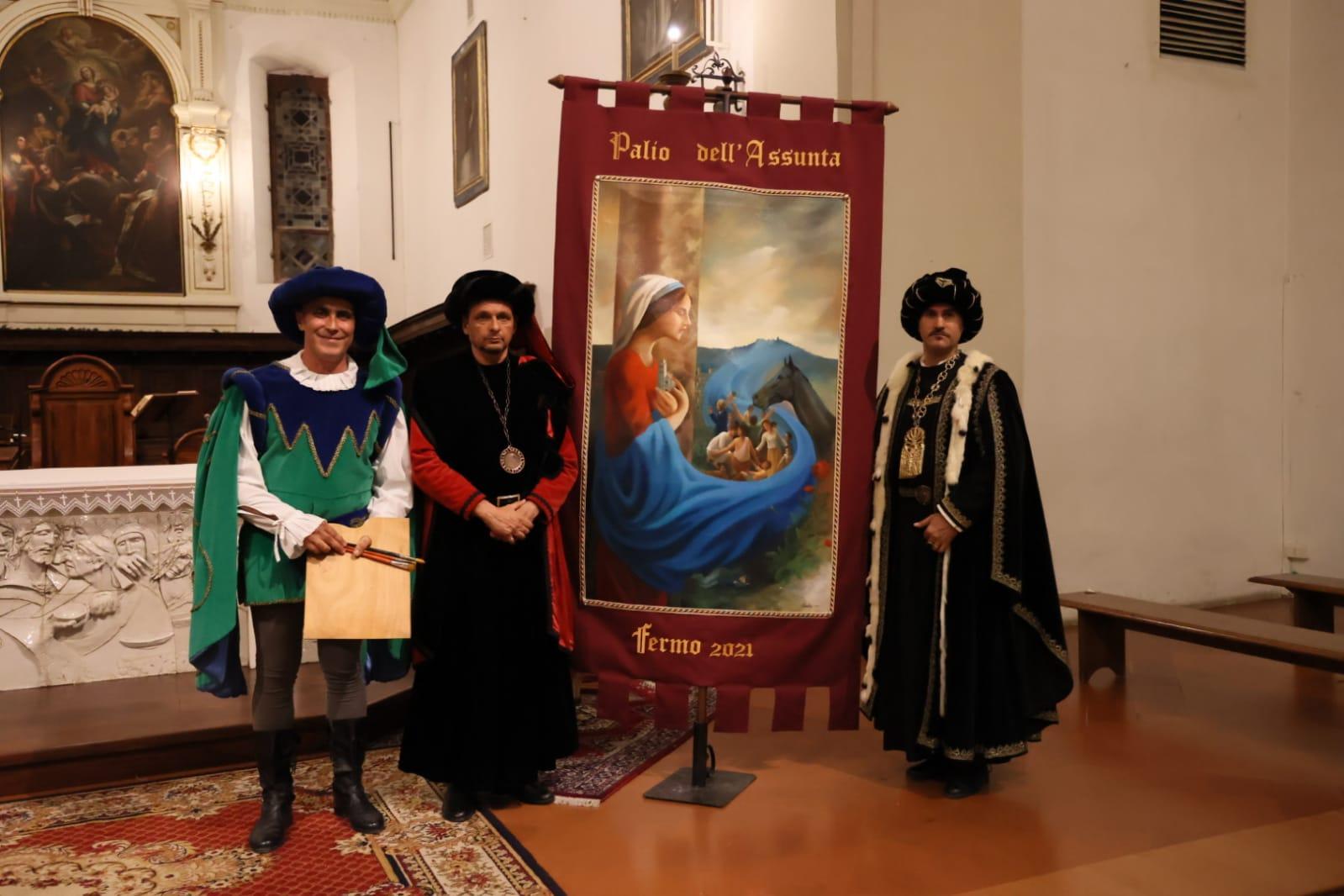 Fermo: venerdì il drappo è arrivato a Porta Santa Caterina